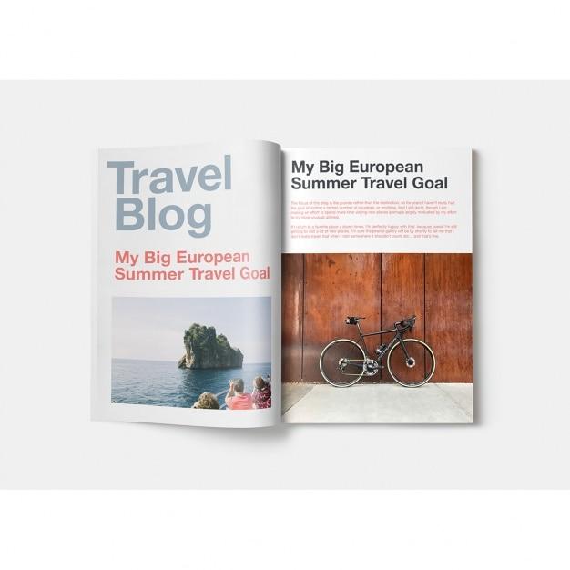 Magazine mock up design Gratis Psd