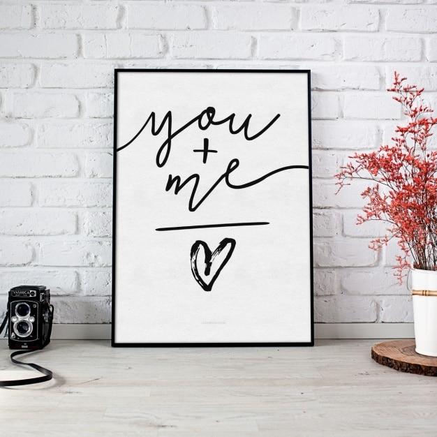Schilderen mock up design Gratis Psd