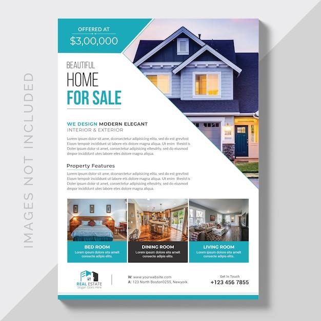 Zakelijke commerciële brochure met afbeelding Gratis Psd