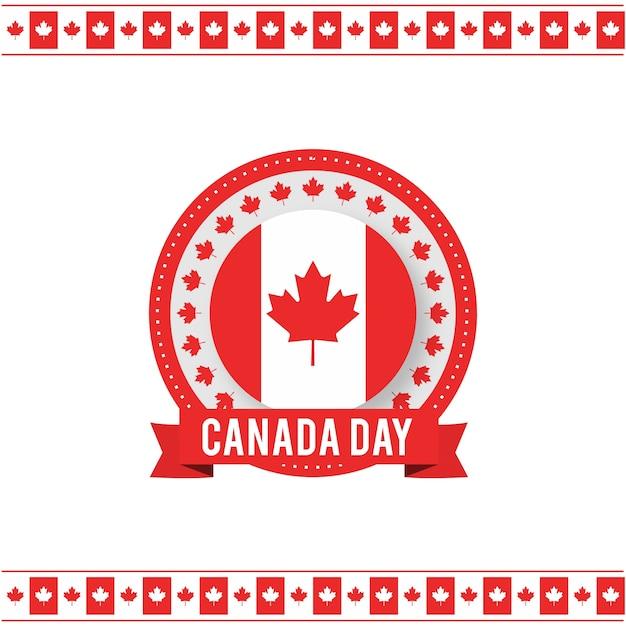 1 juli happy canada day canada vlag leaf op witte achtergrond Gratis Vector