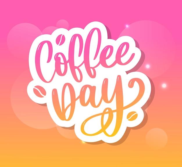1 oktober internationale koffiedag Premium Vector