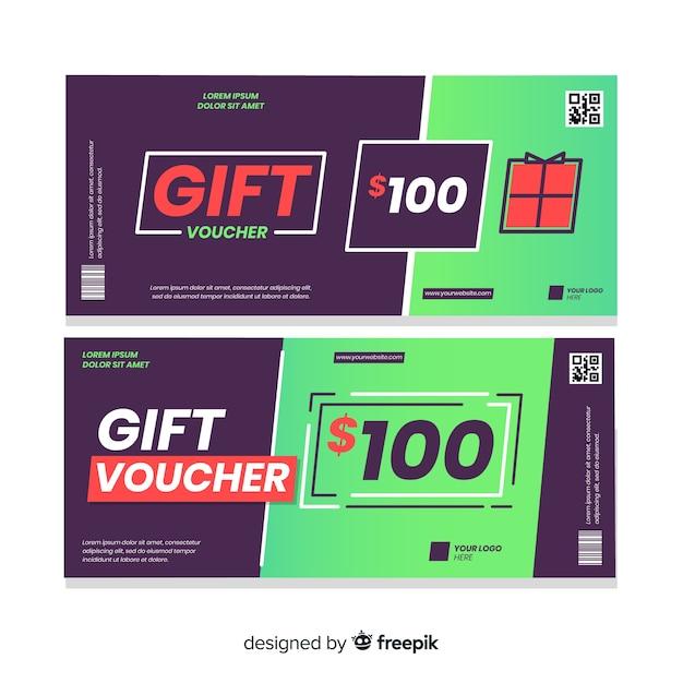 100 $ cadeaubon Gratis Vector