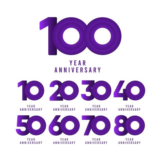 100 jaar verjaardag viering sjabloon illustratie Premium Vector