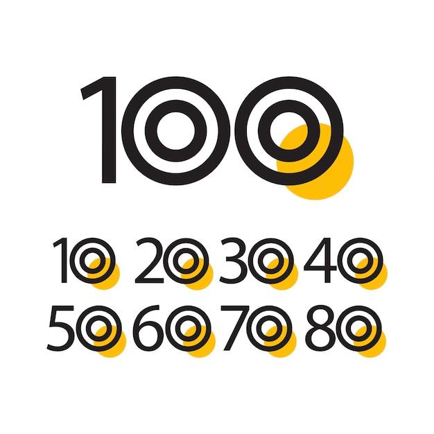 100 jaar verjaardag viering vector sjabloon illustratie Premium Vector