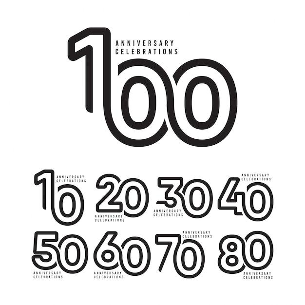 100 jaar verjaardag vieringen sjabloon Premium Vector