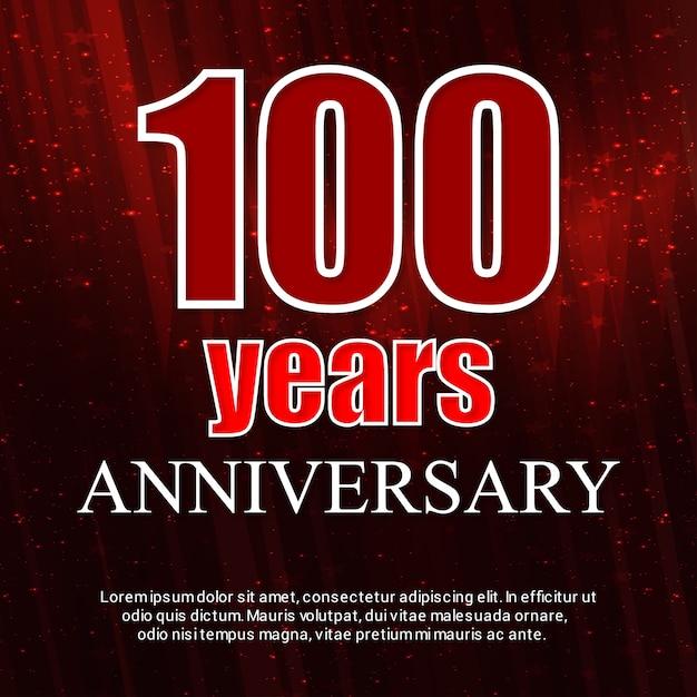 100 jaar vieringen badge vector Gratis Vector