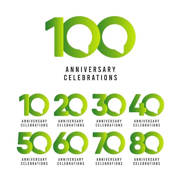 100-jarig jubileumvieringen Premium Vector