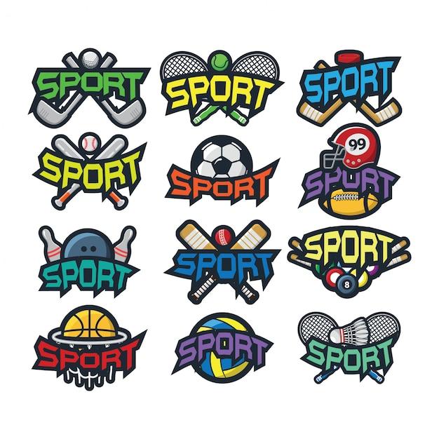 12 sport logo vector Premium Vector