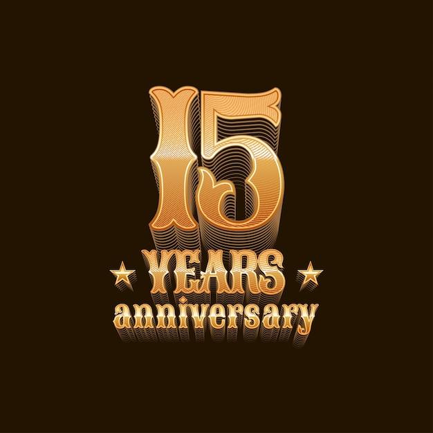 15 jaar jubileum Premium Vector