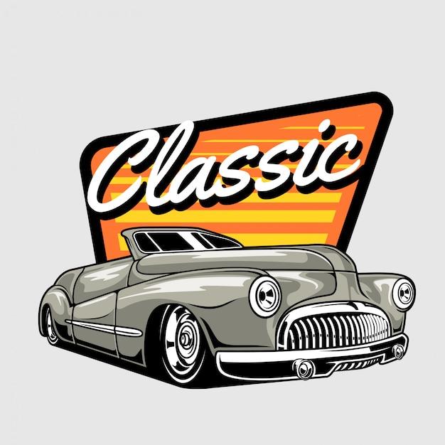 1940 klassieke auto Premium Vector