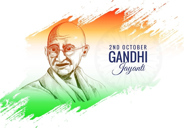 2 oktober gandhi jayanti poster of banner Gratis Vector