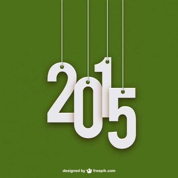 2015 minimalistische Gratis Vector