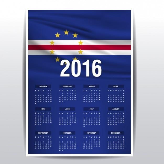 2016 kalender Kaapverdië Vector | Gratis Download