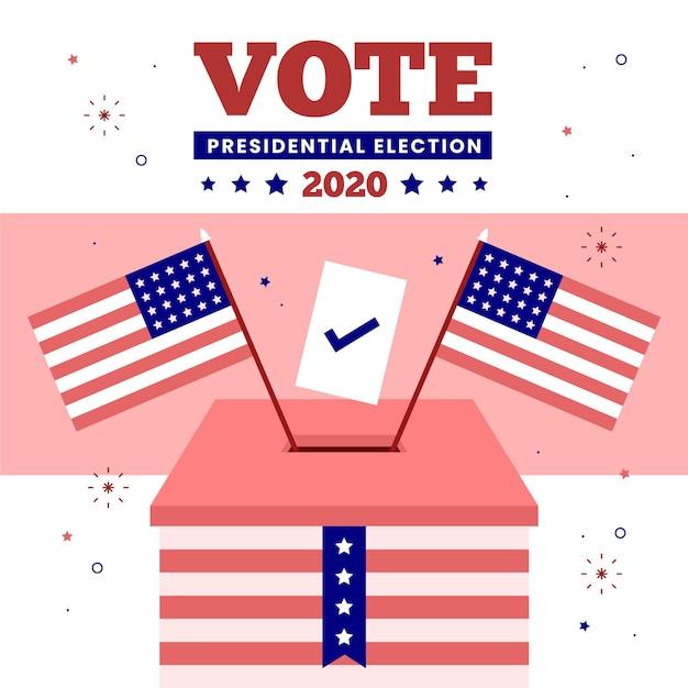 2020 amerikaanse presidentsverkiezingen - concept Gratis Vector