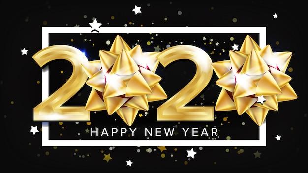 2020 gelukkig nieuwjaarsfeest Premium Vector