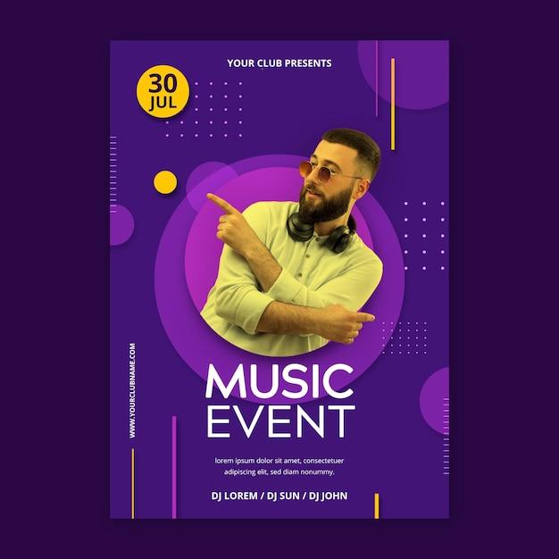 2021 muziekevenement poster Gratis Vector