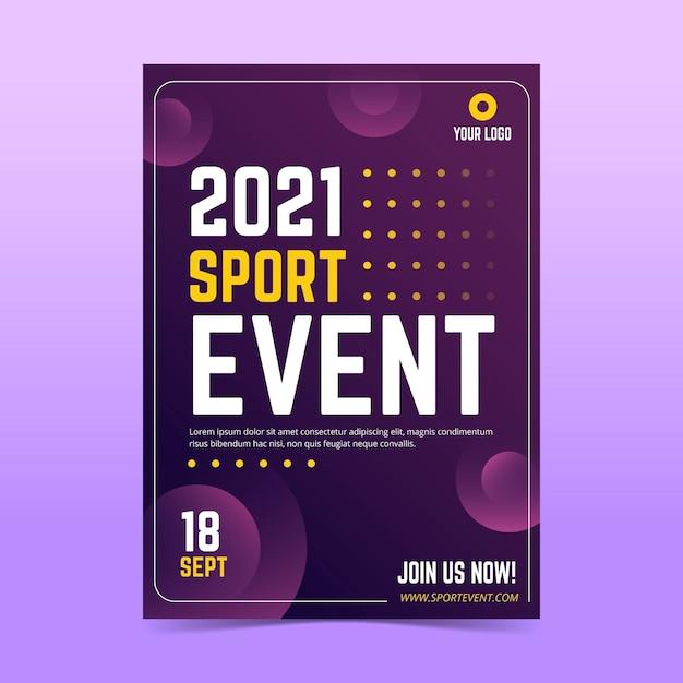 2021 sportevenement poster Gratis Vector