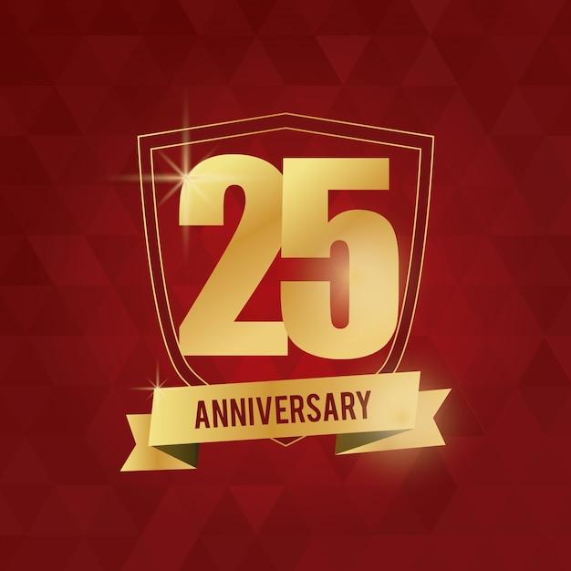 25 jarig jubileum Premium Vector