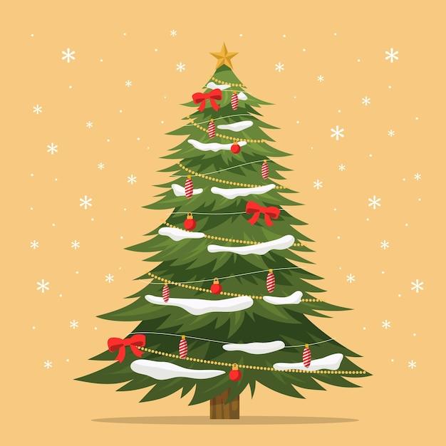 2d kerstboom sjabloon Gratis Vector