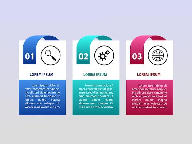 3 stappen vector infographis Premium Vector