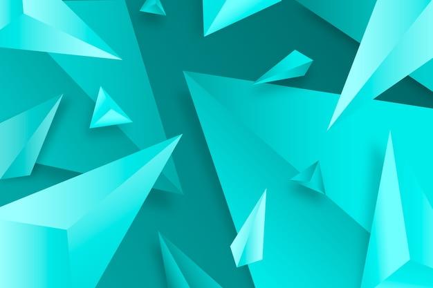 3d achtergrond met levendige kleuren Gratis Vector