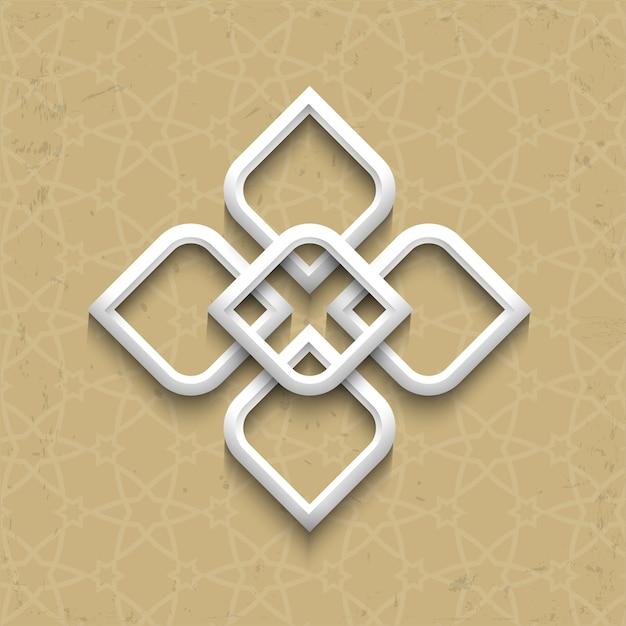 3d-arabische stijl op grunge achtergrond Premium Vector