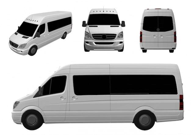 3d busje Premium Vector