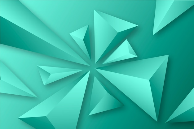 3d driehoekenconcept voor achtergronden Gratis Vector