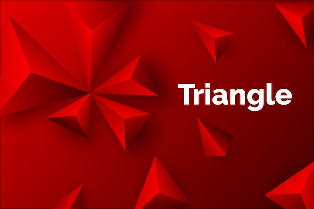 3d driehoeks rode achtergrond Gratis Vector