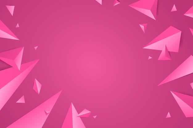3d driehoeksachtergrond met levendige kleuren Gratis Vector