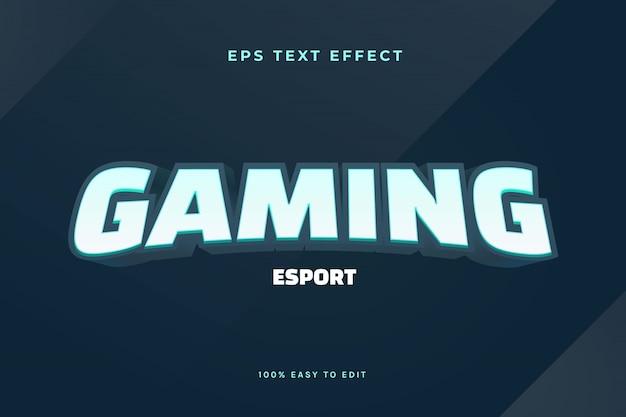 3d-gaming esport-logo teksteffect Premium Vector