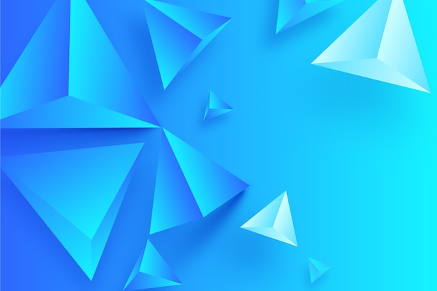 3d geometrisch vormenconcept voor achtergrond Gratis Vector