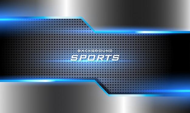 3d gloeiende futuristische sportachtergrond Premium Vector