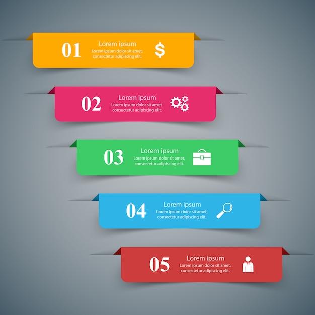 3d-infographic ontwerpsjabloon en marketing pictogrammen Premium Vector