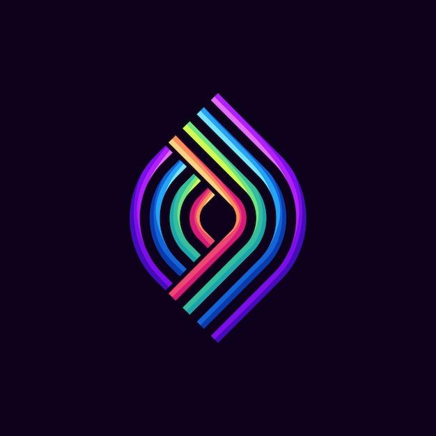 3d-logo, sjabloon, illustratie Premium Vector