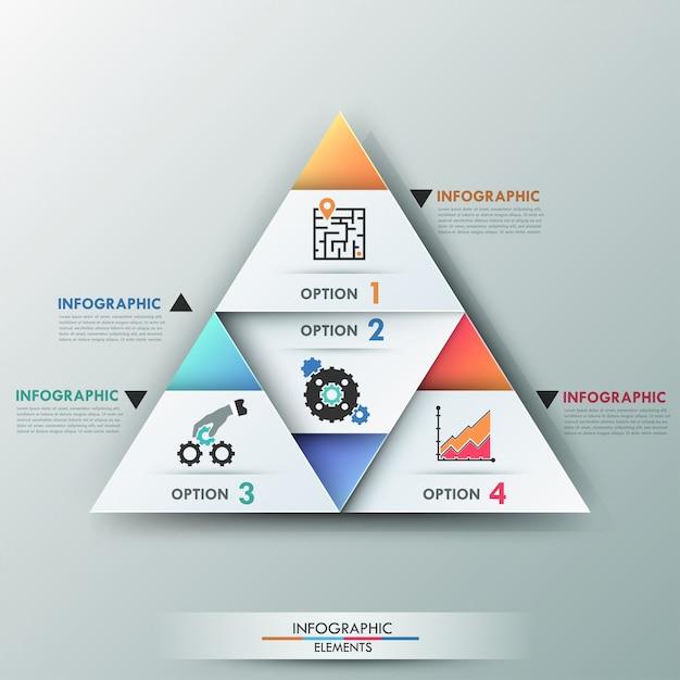 3d moderne banner van infographicsopties Premium Vector