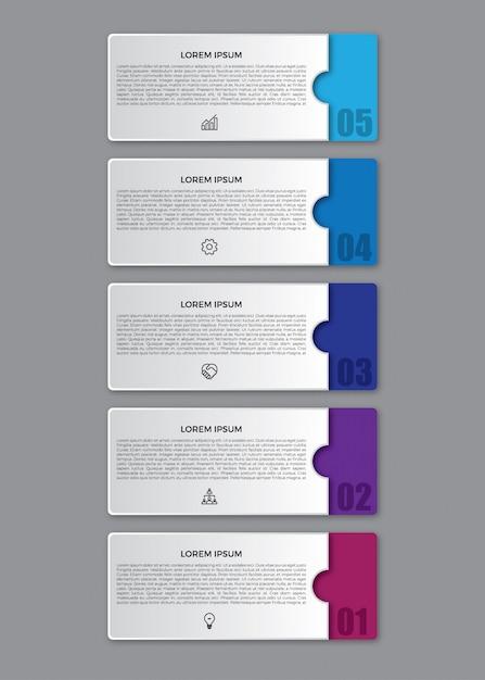 3d platte infographic ontwerpsjabloon. Premium Vector