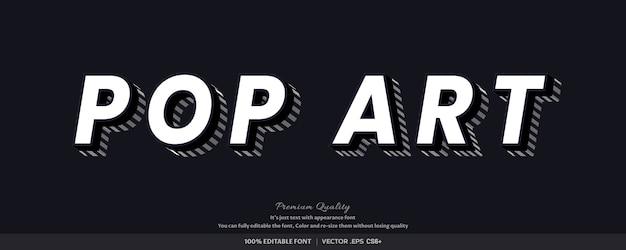3d pop-art - lettertype stijl effect Premium Vector