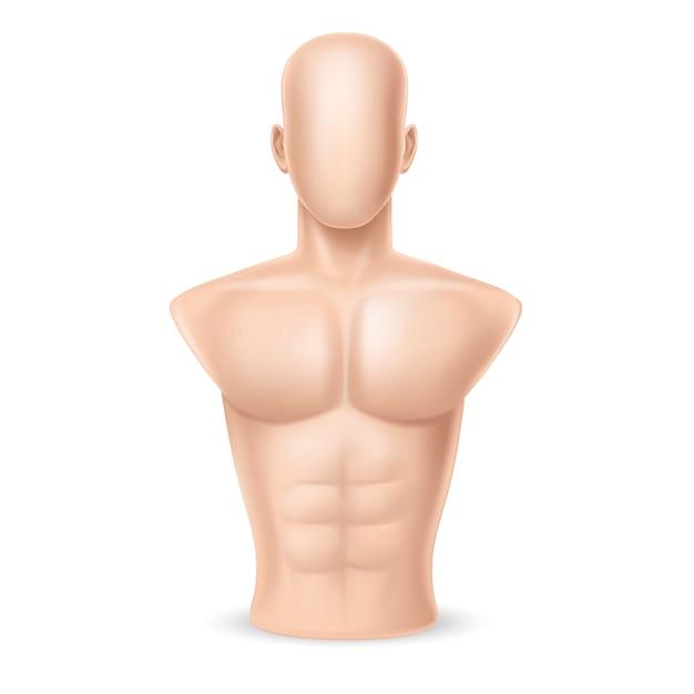 3d-realistische bokszak - menselijk lichaam Gratis Vector