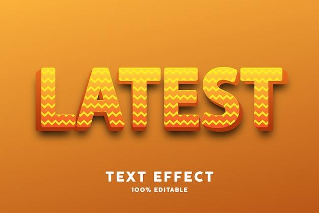 3d-tekst geel glanzend met zigzagpatroon, teksteffect Premium Vector