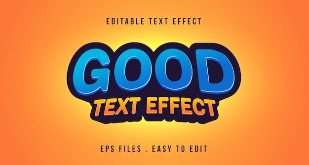 3d-teksteffect, bewerkbare tekst Premium Vector