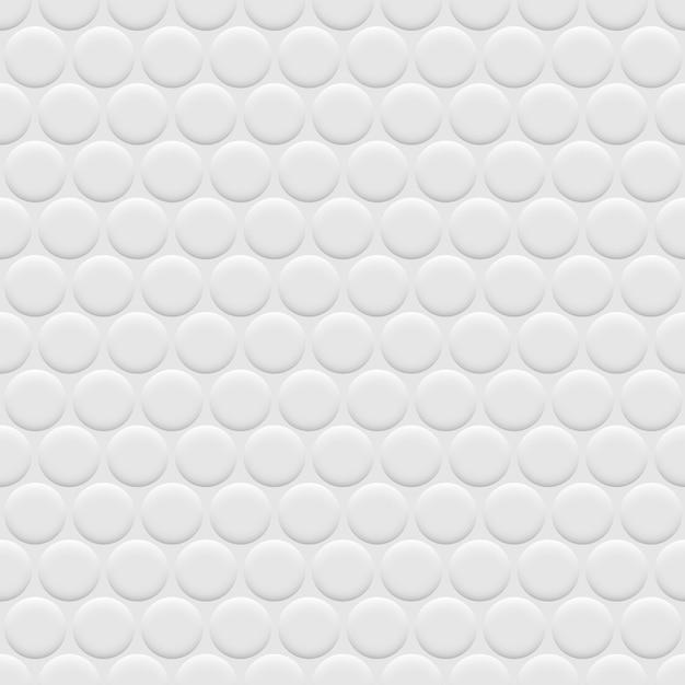 3d wit naadloos patroon als achtergrond met cirkels Premium Vector