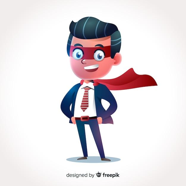 3d zakenman karakter Gratis Vector