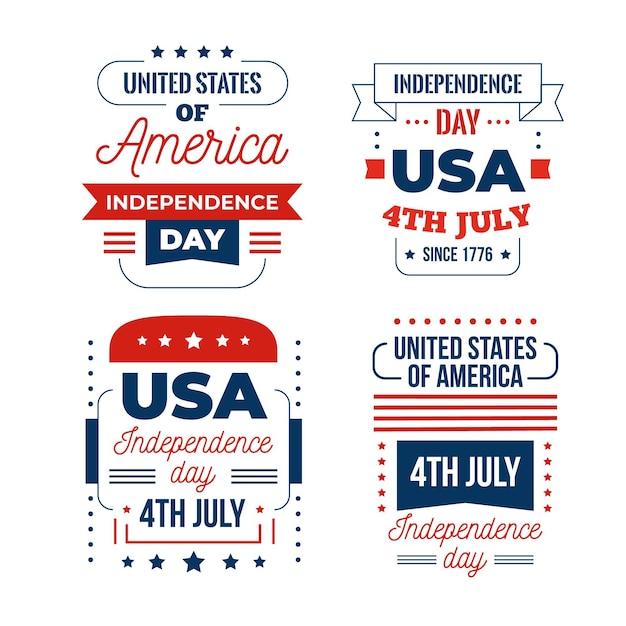 4 juli evenement plat ontwerp Gratis Vector