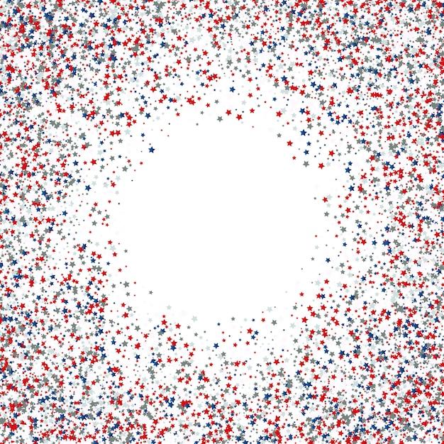 4 juli independence day ster confetti achtergrond Gratis Vector