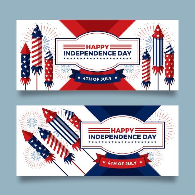 4 juli onafhankelijkheidsdag Gratis Vector