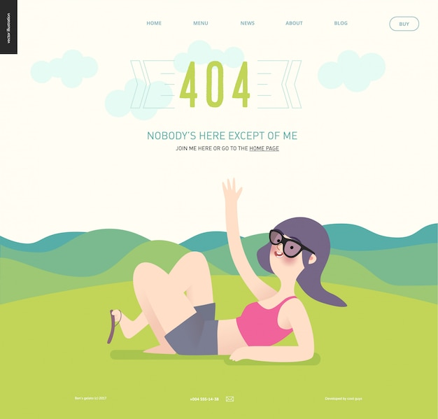 404-fout webpagina sjabloon Premium Vector