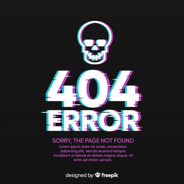404-foutachtergrond Gratis Vector