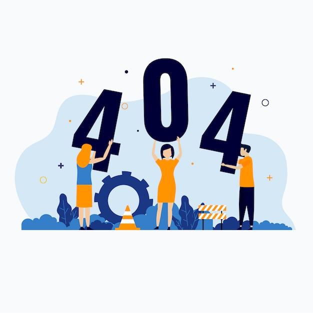 404-foutpagina niet gevonden conceptillustratie Premium Vector