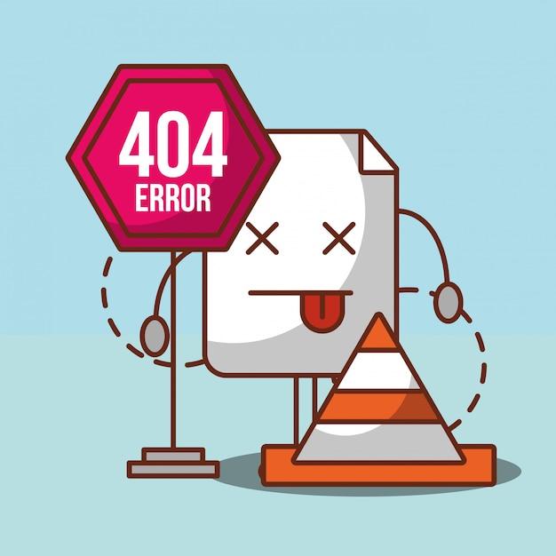 404 foutpagina niet gevonden Premium Vector